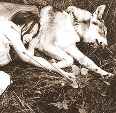 "Hector and Blanca -- ""Humans fear the beast within the wolf because we do not understand the beast within ourselves"" -Gerald Hausman"