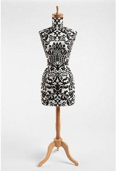 **GASP**  Dress form & Damask?!!  LOVE!!!  wood base dressform $300.00 urbanoutfitters.com