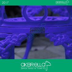 #bahçemobilyası @bahçemobilyaları Saks mavsi Akbrella markalı dış mekanlar için alüminyum döküm sandalye