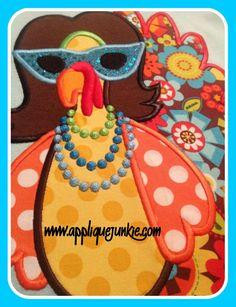 Diva Turkey Applique Design
