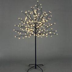 Premier White 180 LED Christmas Xmas Cherry Twig Tree - 1.8m