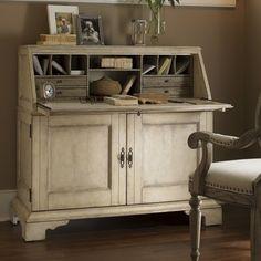 mueble escritorio con efecto blanco envejecido