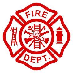 """Fire/EMT Maltese Cross"" Firefighter/EMT themed design can"