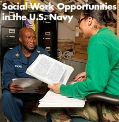 The U.S. Navy dropped anchor for the first time at the School of Social Work, as alumna Jennifer Bornemann (MSSW, 2000), who now serves as an officer in the U.S. Public Health Service Commissioned Corps, introduced Commander Stephen Bromberek, the director of social work at the Walter Reed National Military Medical Center.