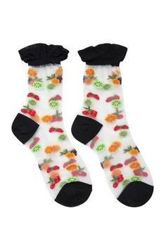 huge discount 8b674 67b69 Sheer Fruit Salad Socks Black Baddräkter, Underkläder
