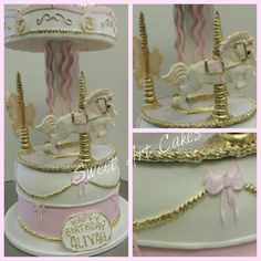 Carousel cut out cake.