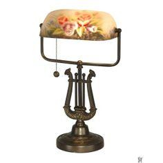 KIELER HAND PAINTED TIFFANY TABLE LAMP