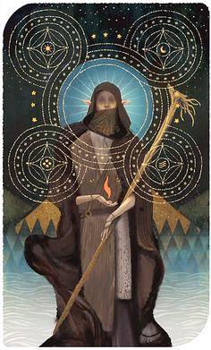 Solas - Dragon Age: Inquisition - 'The Hermit' - Major Arcana tarot card