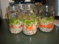 Chicken soup! Canned in quarts and you put noodles in when you boil it. Love to have these already in our pantry for lunch or dinner. Easy to do for those of you that are first time canners.