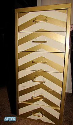 Better After: Painted Filing Cabinet
