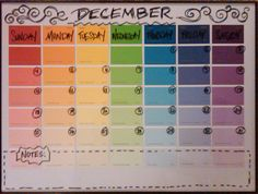 I saw the awesome paint chip picture frame calender and had to make my own... props to the board -diy projects.-