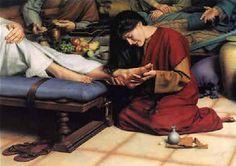 Mary Magdalene anointed Jesus' feet