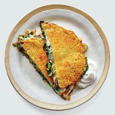 Chickpea Flour Pancakes, No Flour Pancakes, Chickpea Flour Recipes, Hot Dogs, Brunch, Whats For Lunch, Cooking Recipes, Healthy Recipes, Cheese Recipes