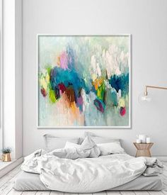 Large painting PRINT giclee print of acrylic painting