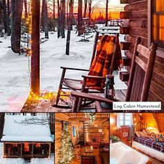 Log Cabin Homestead in Rhinelander, WI, is a cozy year-round getaway settled among the trees on 200 private acres. Get away with loved ones this winter to enjoy the snowmobile trails and jetted tub! #bookdirect #itscabintime #northwoods
