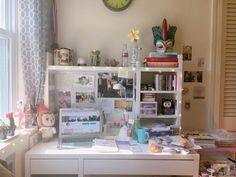 Study Room Decor, Cute Room Decor, Bedroom Decor, Small Study Table, Study Desk, Girl Room, My Room, Desk Inspiration, Desk Inspo