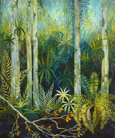 Gloria Loughman contemporary quilter, teacher and author tree quilt