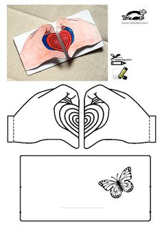 printables for kids Saint Valentine, Valentine Day Crafts, Diy Paper, Paper Crafts, Art For Kids, Crafts For Kids, Bible Crafts, Mothers Day Crafts, Heart Patterns