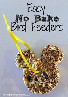 We made easy no bake bird feeders using coconut oil for all of our woodland friends stuck outside in the cold!