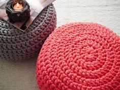 Coral+Crochet+Pouf++Crochet+Floor+Cushions++Ottoman+di+LoopingHome,+€50,00