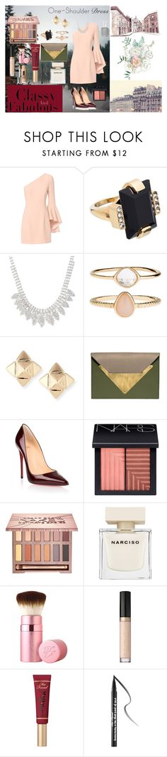 """""""One-Shoulder Dress? My fav..."""" by beautyqueenxcx on Polyvore featuring Exclusive for Intermix, Marni, Accessorize, Valentino, Dareen Hakim, Christian Louboutin, NARS Cosmetics, Urban Decay, Narciso Rodriguez and Too Faced Cosmetics"""