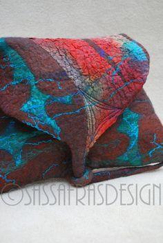 Gorgeous hand felted pouch OOAK handmade gift by sassafrasdesignl on Etsy https://www.etsy.com/listing/209217573/gorgeous-hand-felted-pouch-ooak-handmade