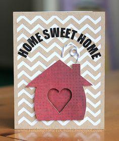Housewarming card | a Silhouette Project #silhouettedesignteam