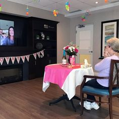 """Our amazing mothers at White Cliffe Terrace Retirement Residence in Courtice received special """"loving videos"""" from their families on Mother's Day. What a wonderful surprise! Senior Living Communities, Wellness Activities, Durham Region, Assisted Living, Retirement, Terrace, Mothers, Families, Community"""