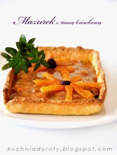 Mazurki wielkanocne z masą kajmakowo-czekoladową i masą krówkową - Kuchnia Doroty