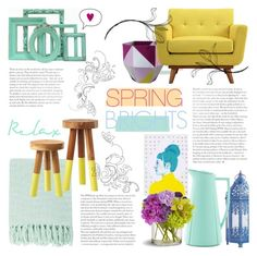 Spring Brights - Home Decor by rachaelselina on Polyvore featuring polyvore interior interiors interior design home home decor interior decorating Steel | Lark Serena & Lily Surya Rosendahl Pier 1 Imports
