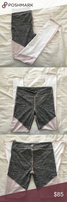 Free People Leggings NWOT NWOT. Popular grey, pink, and white leggings from Free People! Size Large. Never been worn!  Fabric is softer than typical legging fabric. Very cute and super comfortable. Free People Pants Leggings
