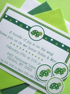 Turtle Baby Shower Invites