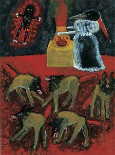 Meinrad Craighead - Crow Mother calls in the Little Fire God