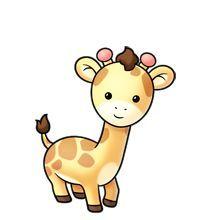 Girafe - cute- very- kawaii Cute Giraffe Drawing, Cute Animal Drawings, Kawaii Drawings, Cute Drawings, Clipart Baby, Cute Clipart, Baby Clip Art, Baby Art, Cute Cartoon Animals