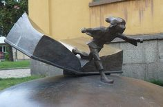 A book monument in Sweden. Pin if you like it :) #books #sculpture