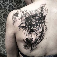 Wolf Tattoo Design, Moon Tattoo Designs, Skull Tattoo Design, Tattoo Designs And Meanings, Wolf Tattoo Shoulder, Wolf Tattoo Back, Small Wolf Tattoo, Wolf Tattoo Sleeve, Sleeve Tattoos