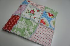 THE BELLA  Rag quilt patchwork blanket by thetrunkshow on Etsy, $56.95
