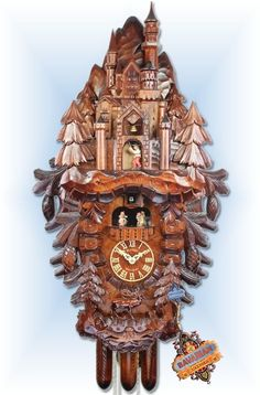 Adolf Herr Cuckoo Clocks | Adolf Herr Neuschwanstein Castle Cuckoo Clock 34  .