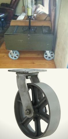 """I used the wheels on an 1940 military foot locker and made an end table out of it. Turned out great. Everyone loves it. Very happy with the product. Is exactly as pictured and described."" -Sher151  from Windsor, CA"