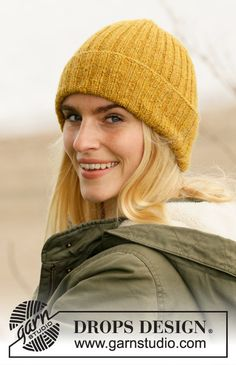 Sun By The Water / DROPS – Kostenlose Strickanleitungen von DROPS Design – Awesome Knitting Ideas and Newest Knitting Models Drops Design, Knitting Patterns Free, Free Knitting, Baby Knitting, Finger Knitting, Scarf Patterns, Knitting Machine, Hipster Hat, Hat Patterns
