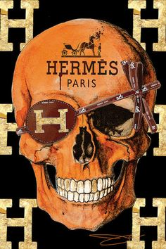 Hermes Skull Canvas Print by Studio One Canvas Art Prints, Canvas Wall Art, Drug Design, Fashion Wall Art, Red Aesthetic, Aesthetic Vintage, Grafik Design, Skull Art, Wall Collage