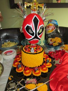 Power ranger theme for my sons birthday! so cool he loved it!* Pinned by* Van xo My Son Birthday, Power Rangers, Vans, Wreaths, Cool Stuff, Halloween, Home Decor, Decoration Home, Door Wreaths