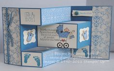 Stamps 'n Jewels: Happy New Baby Trifold Shutter
