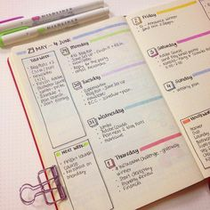"2,637 Likes, 17 Comments - Planner Inspiration (@christina77star) on Instagram: ""Simple yet colourful #weeklyspread once again. I'm officially ready for next #week! • Also,…"""