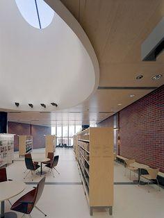 Lohja Main Library, Lohja, Finland - Lahdelma & Mahlamäki Architects Red Brick Walls, Main Library, Red Bricks, Public Service, Finland, Building, Architects, Architecture, Interiors