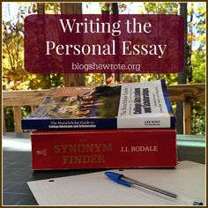 Writing the Personal Essay- Reasons, Resources, &Benefits for learning to develop a well written personal statement essay. Persuasive Essay Topics, Essay Writing Help, Writing Skills, Writing A Book, Article Writing, Writing Ideas, Creative Writing, College Classes, College Essay