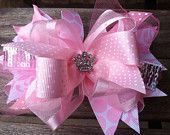 Boutique Hair Bows : Over The Top Hair Bows : Girls Funky Hair Bows : Baby Girls… Baby Girl Accessories, Bow Accessories, Fabric Flower Headbands, Fabric Flowers, Baby Girl Hair Bows, Baby Girls, Cheer Bow Tutorial, Fancy Bows, Boutique Hair Bows