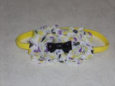 shabby headband will fit infant to teen