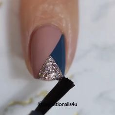 Girls Nail Designs, Nail Art Designs Videos, Nail Art Videos, Nail Art Hacks, Nail Art Diy, Diy Nails, Gel Nail Art, Elegant Nails, Stylish Nails