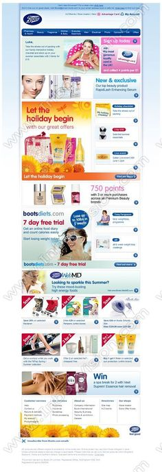 Company:  Boots the Chemist Subject:  Great holiday offers plus free 7day trial with Bootsdiets.com               INBOXVISION providing email design ideas and email marketing intelligence.    www.inboxvision.com/blog/  #EmailMarketing #DigitalMarketing #EmailDesign #EmailTemplate #InboxVision  #SocialMedia #EmailNewsletters